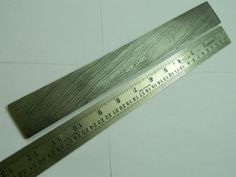 "12""Twiested Damascus Billet Bar 015 For Special Damascus Forging Knife Blade"