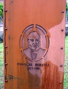 Corten steel plate/bronze Portrait Sculptures / Commission or Bespoke or Customised sculpture by artist Mitchell House titled: 'Monument to Charles Burrell (memorial steel)' Square Columns, Steel Sheet, Best Portraits, Corten Steel, Steel Plate, Cool Walls, Statues, Hand Carved, Garden Sculpture