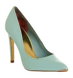 Ted Baker Thaya High Heel Green Leather - High Heels