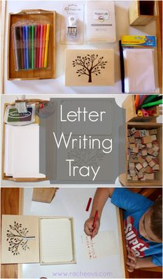Letter Writing Tray - Racheous - Lovable Learning