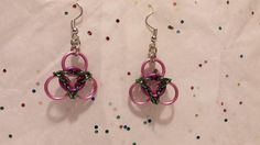 Triquetra/Trinity Knot Chainmaille earrings! Available in your choice of colors! Made-to-order, so please specify your colors!