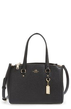COACH 'Stanton 26' Crossgrain Leather Mini Zip Carryall Bag | Nordstrom