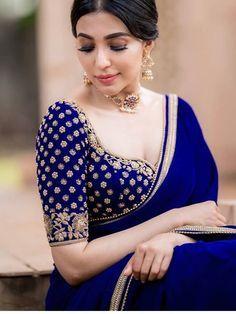Wedding Saree Blouse Designs, Saree Blouse Neck Designs, Fancy Blouse Designs, Indian Blouse Designs, Brocade Blouse Designs, Traditional Blouse Designs, Wedding Sarees, Sari Design, Sari Blouse