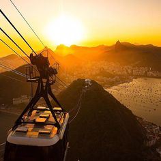 Around the world with me - Rio de Janeiro - Brazil   Breathtaking Summer Sunset by the Sugar Loaf - Rio is the most beautiful metropolis that God made it... So much nature beauty around it... I  RIO. by cbezerraphotos