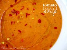 Raw on $10 a Day (or Less!): Tomato Basil Soup ... a Raw Food Recipe