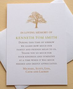 Let me create for you a custom sympathy thank you card. The last thing on your mind when grieving is remembering to send out a thank you card to those who have been there for you during your difficult time.