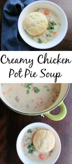 Comfort in a bowl, this soup has all of that delicious pot pie flavor in soup form. It is easy, delicious and will warm you to your core!