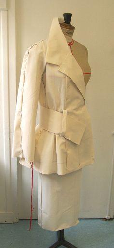 Prototype Haute Couture | Coupe par moulage by GUEVILLE Marc, via Behance