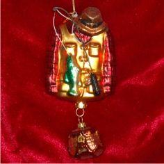 Fishing Jacket - Personalized Family Christmas Ornament