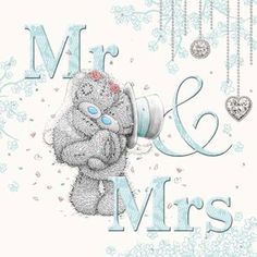 Holographic Mr & Mrs Me to You Bear Wedding Card : Me to You Bears Online - The Tatty Teddy Superstore.