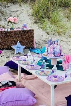 Feast your eyes on this beautiful mermaid birthday party! The table settings are amazing! See more party ideas and share yours at CatchMyParty.com #catchmyparty #partyideas #mermaid #mermaidparty #undertheseaparty #girlbirthdayparty Mermaid Birthday, Girl Birthday, Mermaid Cakes, Mermaid Parties, Under The Sea Party, Table Settings, Beautiful, Place Settings