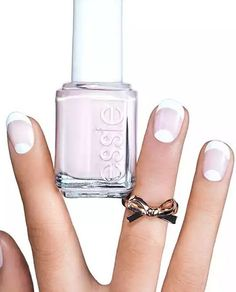 Add a pretty, yet subtle, accent to your French mani by painting the tips and the moons. Get the tutorial at Essie.  - GoodHousekeeping.com