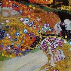 color, movement, mastery!....    Detail, Water Serpents, G Klimt