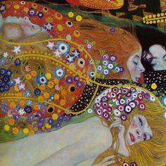 color, movement....    Detail, Water Serpents, G Klimt