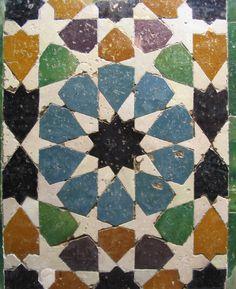 mosaïques orientales, Alhambra.
