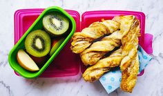 I can't even begin to tell you how much my kids love puff pastry, so I know these flaky, cheesy lunch box treats will be gobbled up in no time. Three ingre
