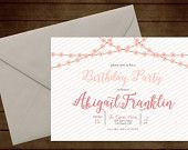 Printable Floral Garland Birthday Invitation-Print Yourself-Digital Invite