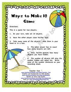 FREE Ways to Make 10 Summer Version