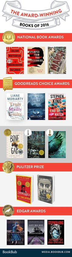 Some of the best books of the year. Award-winning books worth reading.