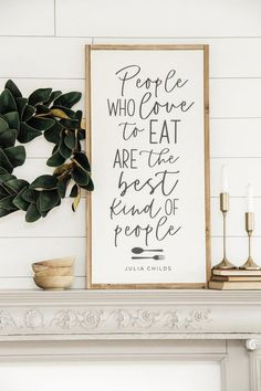 People who love to eat - Julia Child People who love to eat - Julia Child Marlen N. mjuceemjucee Häuslesbau People who love to eat are the best kind of people - Julia Child – Joyfully Said Signs Diy Home Decor Rustic, Handmade Home Decor, Farmhouse Decor, Handmade Wooden, Modern Farmhouse, Farmhouse Style, Farmhouse Design, Farmhouse Kitchen Signs, Farmhouse Wall Art