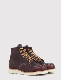 "Red Wing 875 Heritage Work 6"" Moc Toe Boot - Brown"