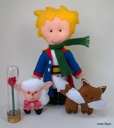 Personagens do livro O Pequeno Príncipe em feltro #artesanato #decor #artesanal #feltro #costura #opequenoprincípe #príncipe #pequenopríncipe #festa #infantil #decoração #bonecos #personagens #marrispe