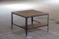 Custom Oversized Oak Worktable w/ Steel Base
