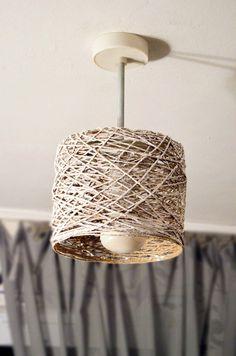 Lampshade Chandelier, Beaded Chandelier, Home Decor Bedroom, Diy Home Decor, Diy Para A Casa, Luminaire Original, Lampe Art Deco, Lampshade Designs, Homemade Art