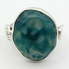 Awesome! New Green Banded Botswana Agate 925 Sterling Silver Ring Jewelry S-6…