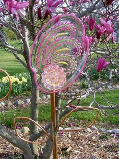 1st try at glass painted stained garden flower art , crafts, diy, gardening, repurposing upcycling