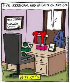 Sat in on algebra/geometry class today.  This is funny!