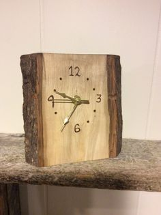 Log Slab Clocks by NewhallsRustics on Etsy