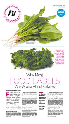 Why Most Food Labels Are Wrong About Calories Epoch Times #Health #Nutrition #CalculateCalories #newspaper #editorialdesign