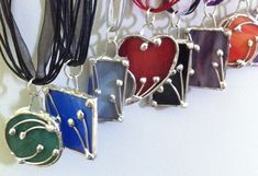 Stained glass necklaces