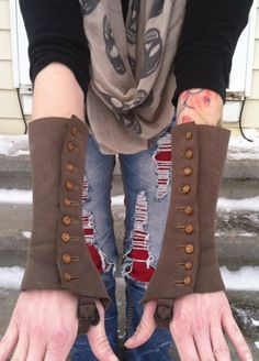 UpCycled Vintage Spats/Arm Warmers/Gloves by DovesNestDesigns, $54.00