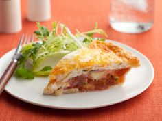 Tomato Pie recipe from Paula Deen ... Add tofu, tofurkey, beans, etc for added protein and to make a complete meal!