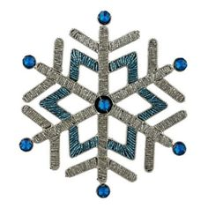Amazon.com: Xmas Ornaments Turquoise Crystal SnowFlake Handmade by Artisan Set of 2: Home & Kitchen