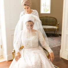 20 Ways to Wear a Veil With Your Wedding Hairstyle - Whether you're sporting a formal updo or long, loose waves, here's the lowdown on wedding hairstyles with veils. {Hijab Couture Bridal} Victorian, Wedding Dresses, Fashion, Bridal Dresses, Moda, Bridal Gowns, Wedding Gowns, Weding Dresses, Wedding Dress