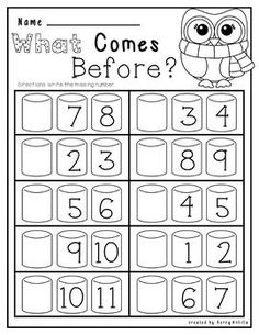 Kindergarten No Prep Winter Math and Literacy Kindergarten Prep Preschool Math Math Classroom Homeschool Kindergarten, Elementary Math, Teaching Math, Math Literacy, Math Math, Math Classroom, Teaching Geography, Preschool Writing, Numbers Preschool