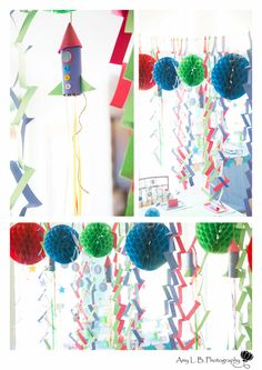 Decorations at a Rocket Party #rocket #party