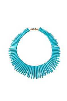 Kenneth Jay Lane Turquoise Spike Necklace from REVOLVEclothing.com