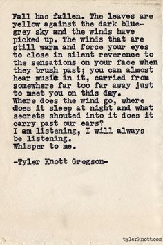 Typewriter Series #555 by Tyler Knott Gregson