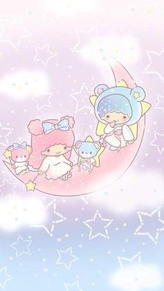Cute little twin stars wallpaper