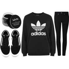 A fashion look from February 2017 featuring adidas sweatshirts and Vans sneakers. Browse and shop related looks.