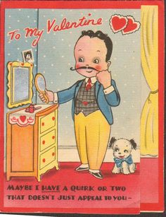 Image result for what a cookie + vintage valentine card -cookie
