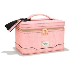 Victoria's Secret Train Case ($48) ❤ liked on Polyvore featuring beauty products, beauty accessories, bags & cases, bags, grey, wash bag, cosmetic bags, train case makeup bag, make up purse and toiletry kits