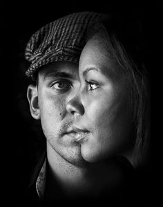cool portrait that shows the two individuals as a whole
