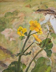 Lucian Freud (British, 1922–2011), Kingcups, Souvenir of Glen Artney, 1967. Oil on canvas, 23 x 18.5 cm.