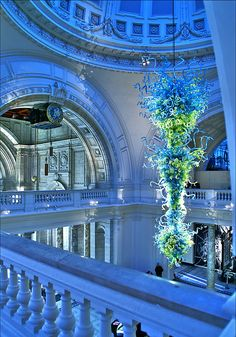 Victoria and Albert Museum, London, I saw the Chihuly chandelier- & many thousands of other things- there last summer.