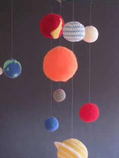 Need to learn to knit so I can get this: Solar System  Crochet Pattern for Planets mobile by Maddyisretired, £5.75